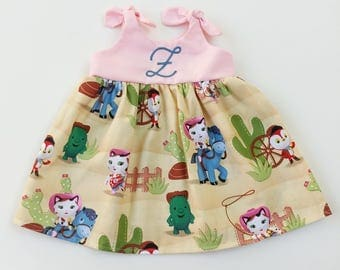 Sheriff Callie dress, Sheriff Callie's Wild West Dress, Disney inspired outfit, baby dress, coming home outfit, birthday dress