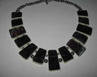 1970s Karla Jordan Designer Necklace Vintage Costume Jewelry #e537