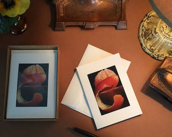 Notecards ACEO Orange Print Six Photo Pocket Blank Note Cards