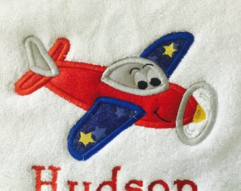 Personalized kids Bath Towels, Airplane Towels, Personalized Towels for Kids, Great children's gifts, Personalized children's bath towels,
