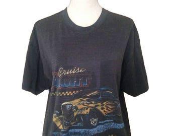 Vintage Car Cruise Night Hot Rod 90s Tshirt