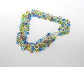 Custom Order Blue Shaggy Beaded Bracelet