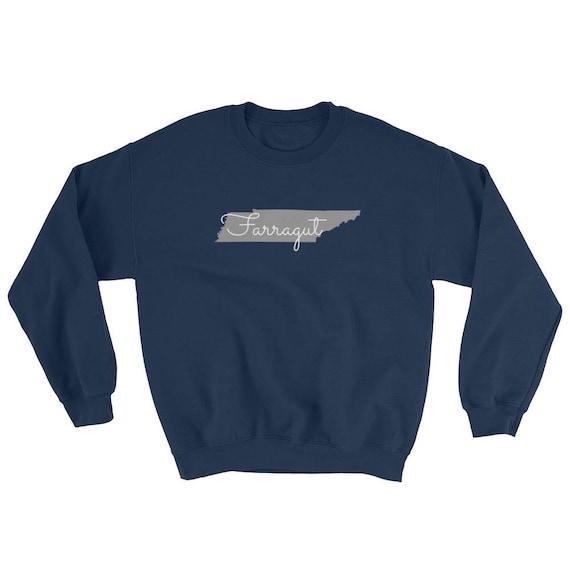 Farragut Tennessee State Long Sleeve Navy Unisex Sweatshirt