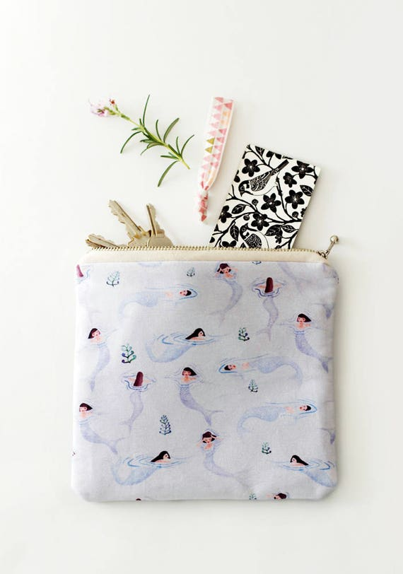 Tiny Mermaid Makeup Case / Soft Pouch
