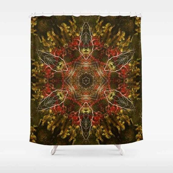 Shower Curtain, Autumn, Kaleidoscope, Bathroom Art, Bathroom Decor, Bathroom Accessories, Photography, Nature Lover, Housewarming Gift, Gift