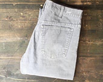 Levi Strauss Grey Corduroy Trousers