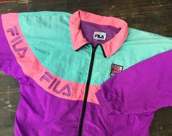 90s Fila Pro Beach Shell Jacket