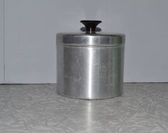 Grease Canister ~ Spun Aluminum Storage Container ~ Vintage Kitchen ~ Mid Century ~ Epsteam