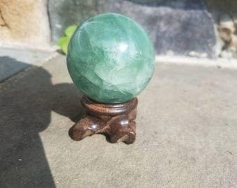 Green Flourite Sphere 313 Grams