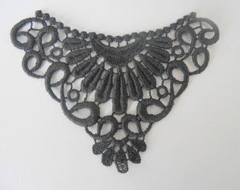 Black 10 x 6.4 cm Littles lace motif
