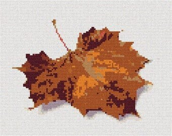 Needlepoint Kit or Canvas: Fallen Leaf