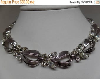 ON SALE TRIFARI Signed Vintage Marquise Crystal Necklace