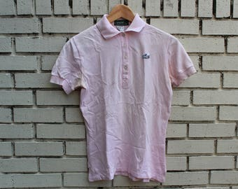 Vintage LACOSTE Izod Polo Shirt Size S Small For Her collared dress dinner shirt short sleeve button up