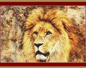 Proud Lion Cross Stitch Pattern