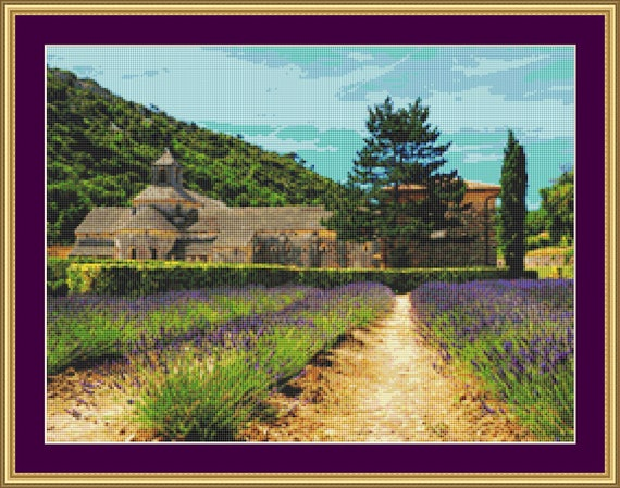 Abbaye De Senanque Cross Stitch Pattern /Digital PDF Files /Instant downloadable
