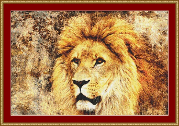 Proud Lion Cross Stitch Pattern /Digital PDF Files /Instant downloadable