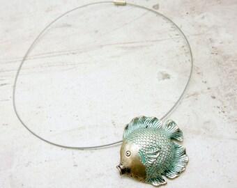 Fish Necklace, fish choker