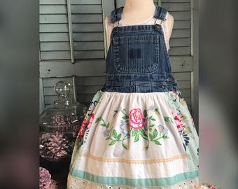 Vintage Overall Dress size 3/4