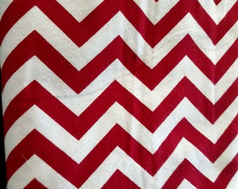 Surplus Fabric 2 1/2 Yards OF Snuggle Flannel Fabric- Red Chevron