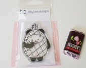 Peace Out! Pineapple Panda Clear Stamp