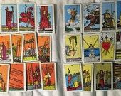 Vintage 1968 Arthur Waite Tarot Albano Miniature Tarot Cards Deck Pamela Coleman Destash Art Projects INCOMPLETE Deck Authentic and Original