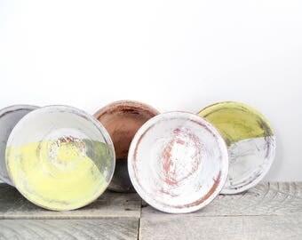 Shabby Chic Storage Bowls - 5 - Soft Pretty Neutral Colours - Modern Home Decor