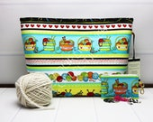 Yarn Tote Bag - Knitting Project Bag - Crochet Project Bag - Knitting Wedge Bag - Large Project Bag - Craft Storage Bag - Knit Happy