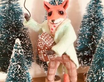 Fox, Cupcakebears, cupcakebearsandme, kerstboom decoratie, Collector's item, handgemaakte