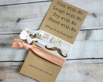 White/Gold/Peach Bridesmaid Gift 3 pcs gift set - Plan with Me, Laugh With Me, Cry with Me- Bachelorette Party/Wedding/Bridesmaid GIft