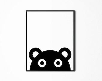 Teddy Bear Printable, Playroom Digital Print, Baby Nursery Room Wall Decor, Art for Kids