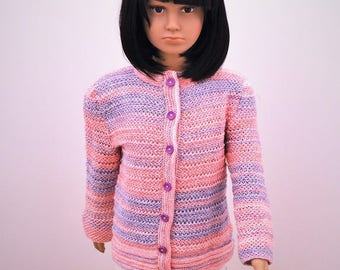 vest girl 5 years, wool and decorative stitches