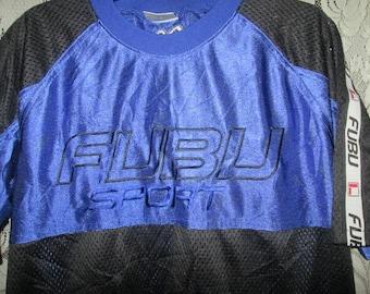 Vintage Fubu 1990s Hip Hop Jersey Embroidery Logo T-shirt Original Made In USA