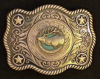 Elk Buckle Antique Copper