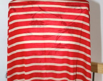 Red beige striped jersey in 101x135cm coupon