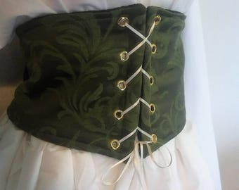 XXXL Cincher in Olive Green, Front Lace