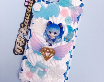Custom Kawaii Vocaloid Hatsune Miku including Snow Miku  Decoden Phonecase for Iphone 6 Plus Samsung Galaxy and more