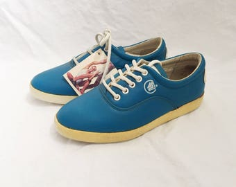 vintage travel fox sneakers nappa low tops womens size 7.5 deadstock NWT 80s