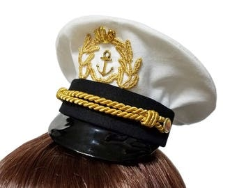 Sweet Sailing Mini Sea Captain Hat - Available in 4 Colors