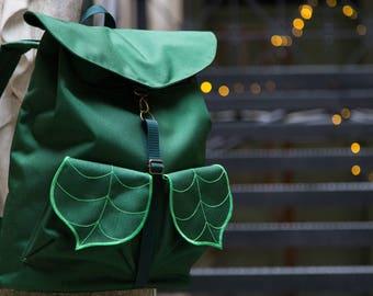 CUSTOM  Leaf Laptop Backpack / College Backpack / Waterproof Backpack / Unisex Rucksack / Hipster Backpack /Boho Backpack/15in Laptop Bag