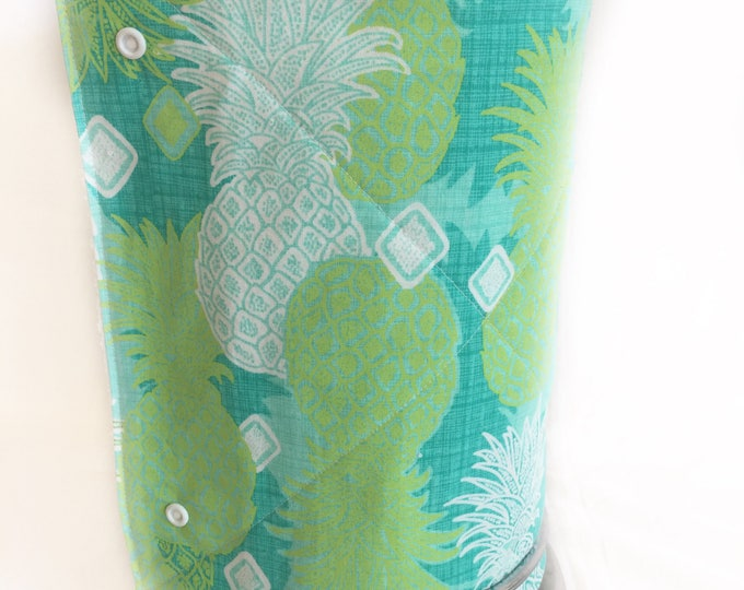 Unpaper towels, Roll of 12 cotton terry cloth kitchen towels, Pineapple Snap together towels, cotton napkins, Reusable paper towels