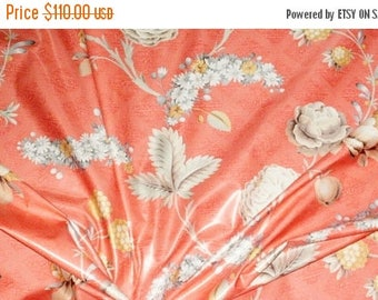 ON SALE Vintage, Jay Yang Fabric, Versailles Foundation 5.7 yards, Shabby Chic, Floral, Luxury Cotton Chintz Print, Drapery Upholstery Fabri