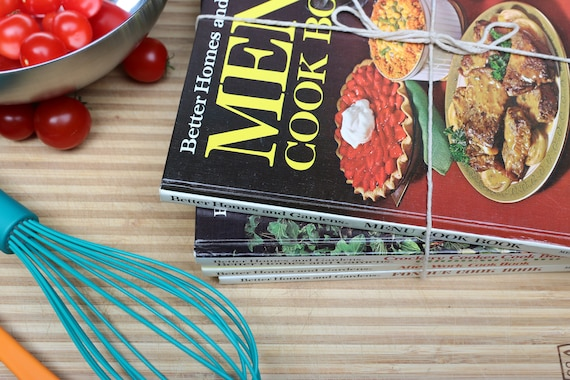 Five Better Homes & Gardens Cookbooks: Menu, Crockery Cooking, Cooking for Two, After Work, and Fondue (A Great Gift for Newlyweds!) 60s/70s