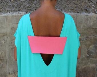 SALE ON 20 % OFF Caftan Dress, Backless dress, Maxi dress, Mint dress, Oversized Dress, Sleeveless dress , Open back dress
