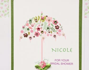 Bridal Shower Card-Personalized-Inside May Be Personalized
