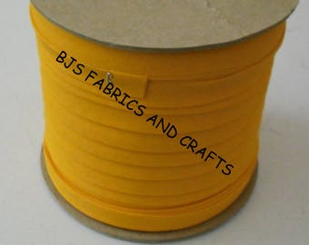 """Double Fold Bias Tape EXTRA WIDE 1/2"""" GOLD 12 Yards Wholesale 12 Yards"""