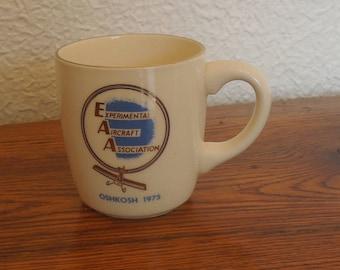 Vintage Experimental Aircraft Association Coffee Mug EAA Oshkosh 1975