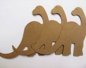 Set of 10 Dinosaur  die cuts-craft projects-scrapbooking -DIY  banner