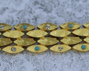 Vintage BSK Bracelet , 1940 - 1950 Upper End Jewelry  #631 AW