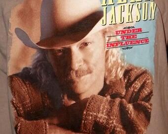 """Vintage Alan Jackson """"Under the Influence"""" Tour T-Shirt - Size XL - Alstyle Apparel & Activewear - 100% Pre-Shrunk Cotton"""