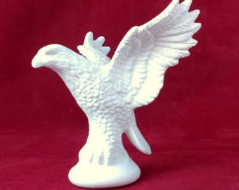 Ready to paint Small Eagle- 4 inches tall-  indoor, outdoor, lawn or garden, DIY
